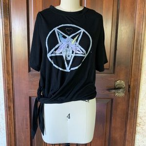 RARE UNIF - Unicorn Pentagram Tee - Medium